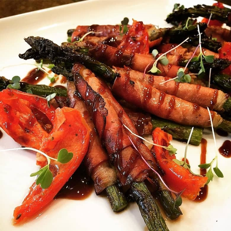 asparagus beef wraps