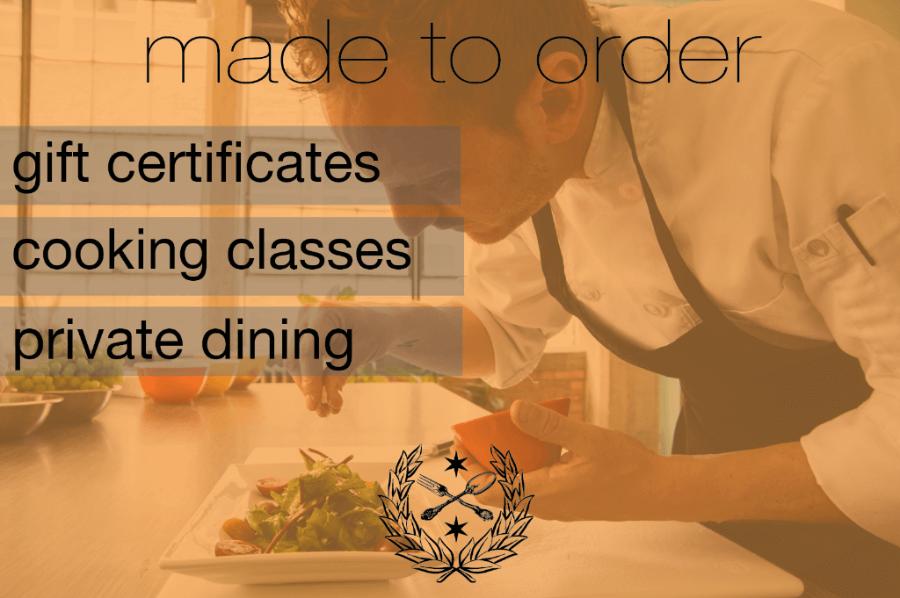 Chef Aram's gift certificates