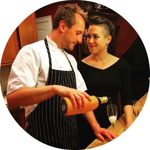 chef aram and his wife sarah