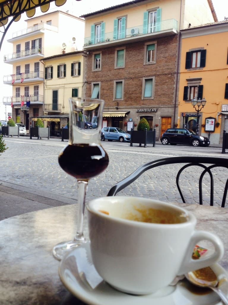 stopping for coffee in italy