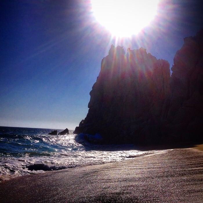 beach in sunny mexico