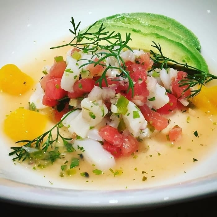 shrimp watermelon ceviche