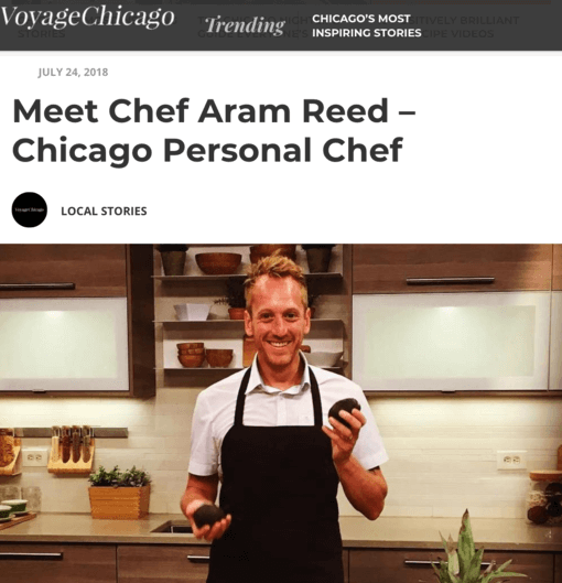 voyage chicago profile article of chef aram reed