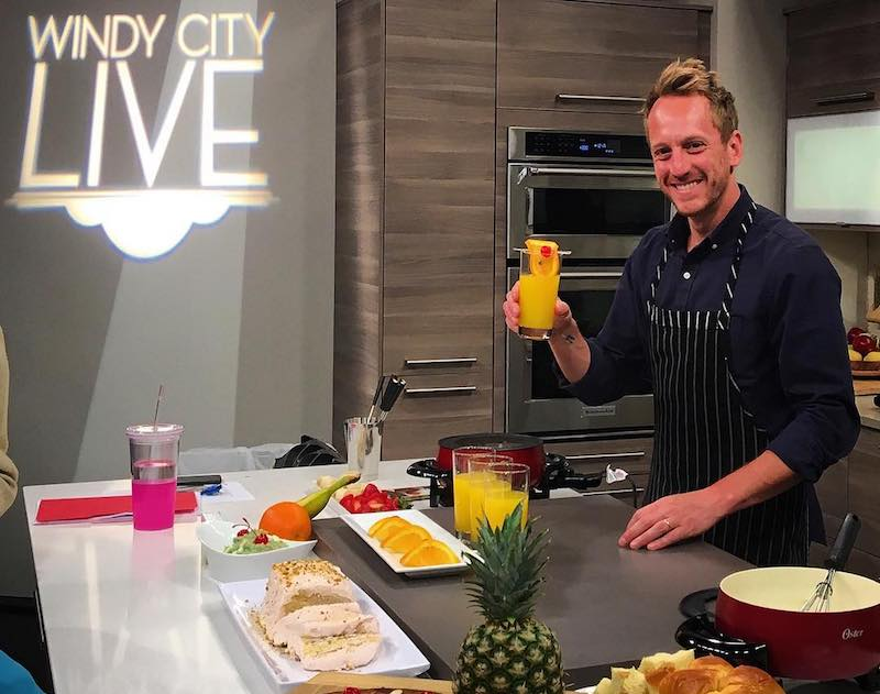 chef aram on the set of Windy City Live in Chicago
